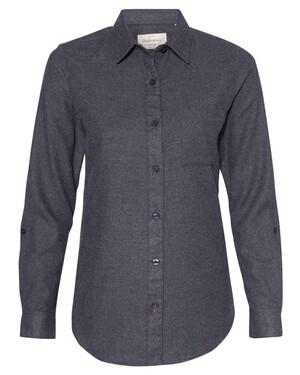 Vintage Brushed Flannel Solid Women's Shirt