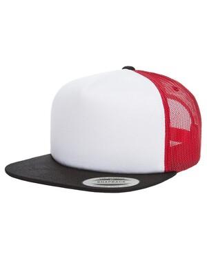 5 Panel Foam Flat-Bill Trucker Hat