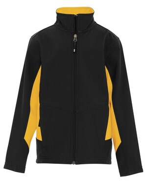 Colour Block Soft Shell Youth Jacket