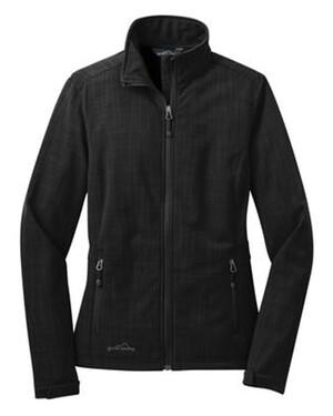 Shaded Crosshatch Softshell Ladies' Jacket