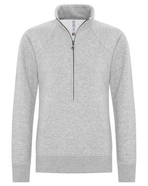 Esactive® Vintage 1/2 Zip Ladies Sweatshirt