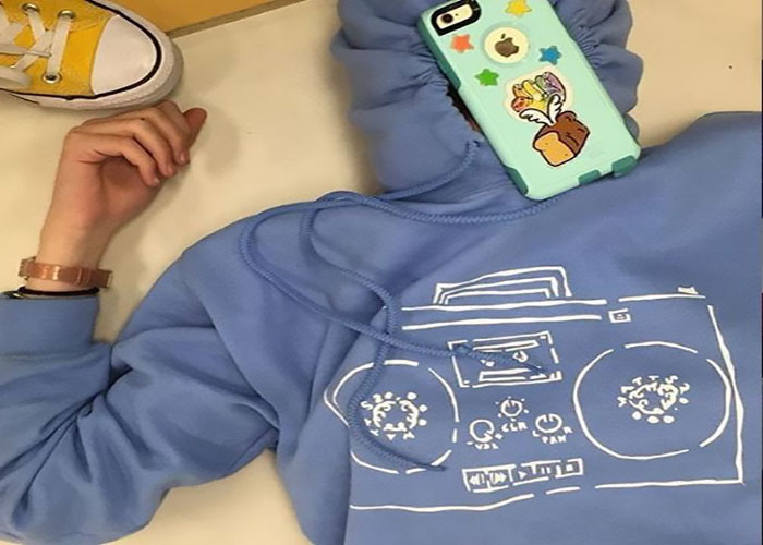 flying bread boombox hoodie