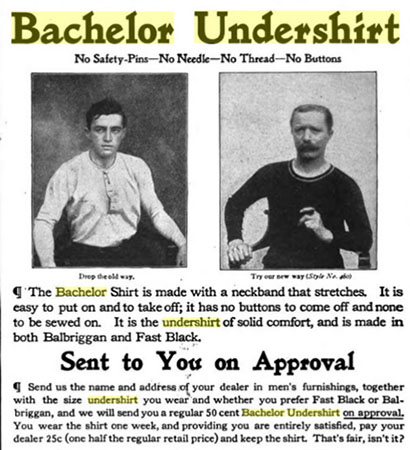 t-shirt bachelor ad