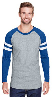 L.A.T. Apparel 6934 Men's Gameday Mash Up Long-Sleeve Raglan T-Shirt