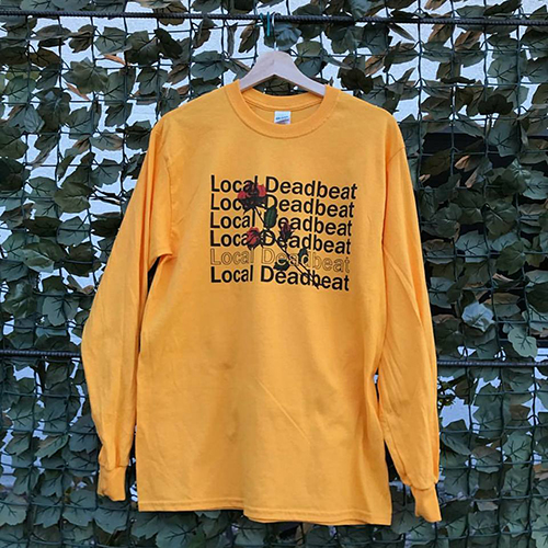 yellow local deadbeat t-shirt